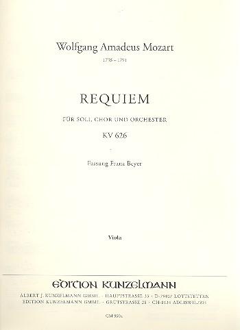 Mozart, Wolfgang Amadeus - Requiem d-Moll KV626 :