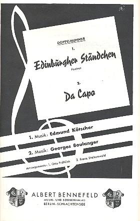 Edinburgher Ständchen und Da capo: für Salonorchester