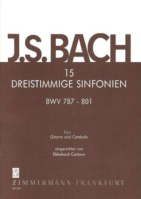 15 dreistimmige Sinfonien: für Gitarre und Cembalo