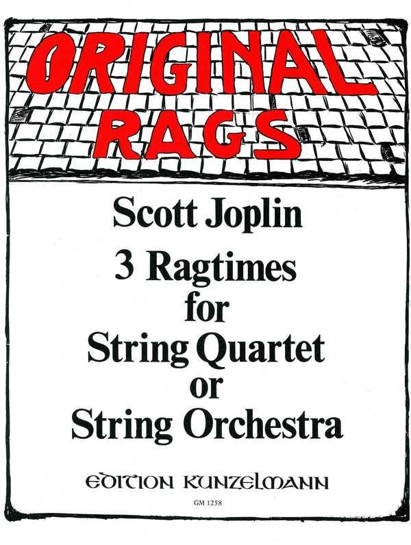 3 Ragtimes: für Streichquartett