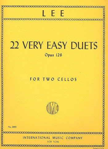 Lee, Sebastian - 22 very easy Duets op.126 :