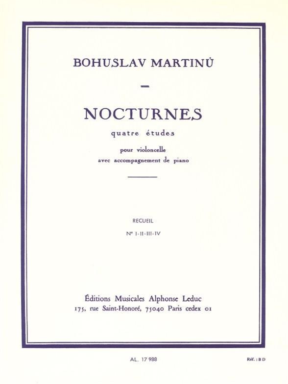Martinu, Bohuslav - Nocturnes : 4 études pour