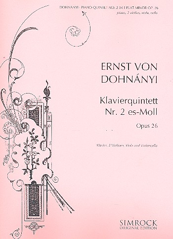 Dohnanyi, Ernö (Ernst von) - Qintett es-Moll op.26 :