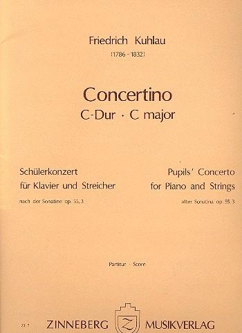 Concertino C-Dur op.55,3: für Klavier und Streicher