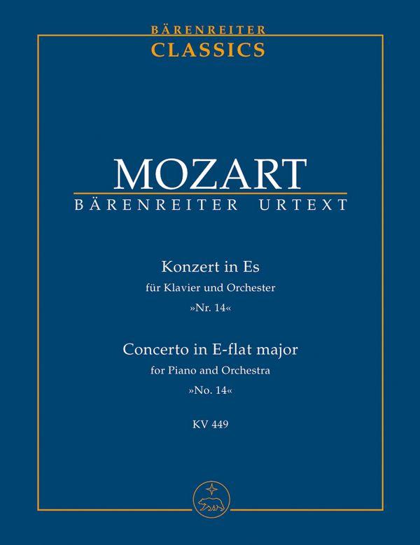 Konzert Es-Dur KV449: für Klavier und Orchester, Studienpartitur