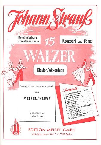 15 Walzer für Konzert und Tanz: für Salonorchester