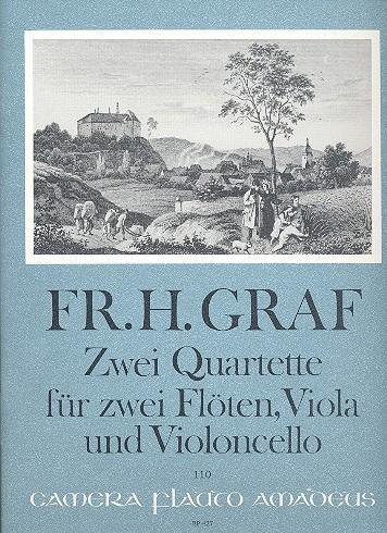 2 Quartette: für 2 Flöten, Viola und Violoncello,   Stimmen