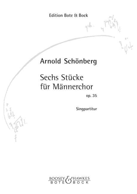 6 Stücke opus.35: für Männerchor a cappella (dt/en)