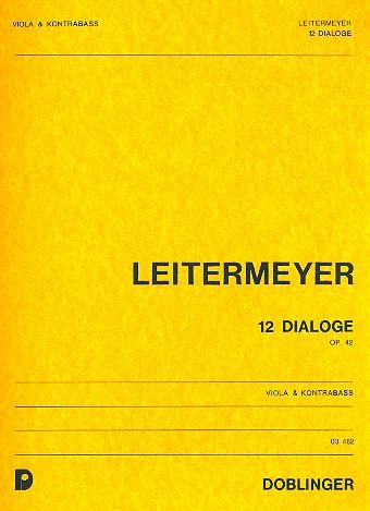 12 Dialoge opus.42: für Viola und Kontrabass