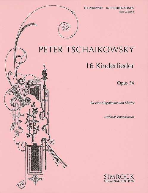 16 Kinderlieder opus.54: für Singstimme und Klavier