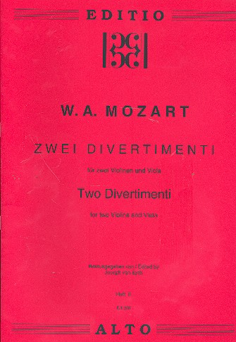 2 Divertimenti: für 2 Violinen und Viola