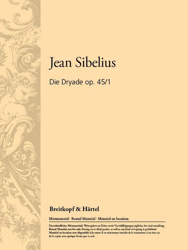 Die Dryade opus.45,1: für Orchester Studienpartitur
