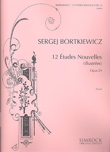 12 études nouvelles (illustrées) opus.29: für Klavier