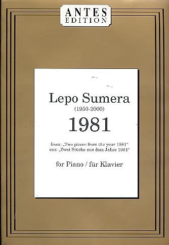 1981: für Klavier