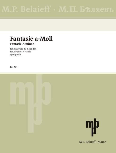 Skriabin, Alexander - Fantasie a-Moll oppost. :
