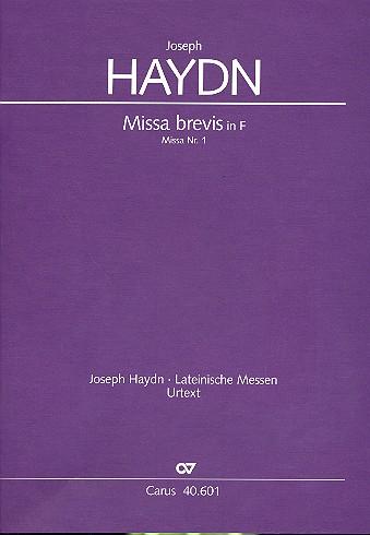 Missa brevis F-Dur Hob.XXII:1: für Soli (SS), Chor und Orchester