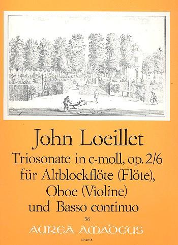 Loeillet, Jean Baptiste (John of London) - Triosonate c-Moll op.2,6 : für