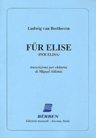Beethoven, Ludwig van - Für Elise : für Gitarre