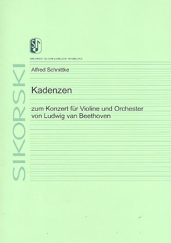 Beethoven, Ludwig van - Kadenzen zum Violinkonzert D-Dur op.61