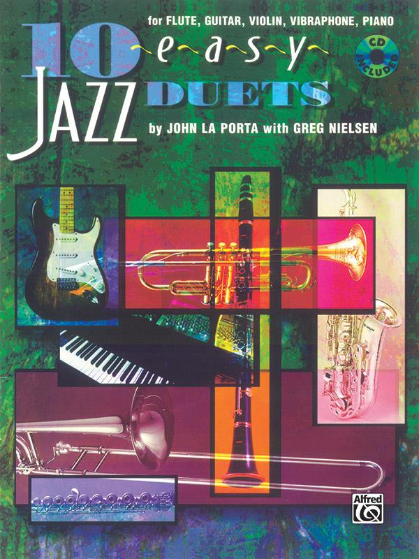10 easy Jazz Duets (+CD): for flute, guitar, violin vibraphone, piano