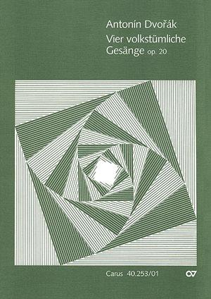 4 VOLKSTUEMLICHE GESAENGE opus.20: FUER GEM CHOR UND KLAVIER (TS/DT)