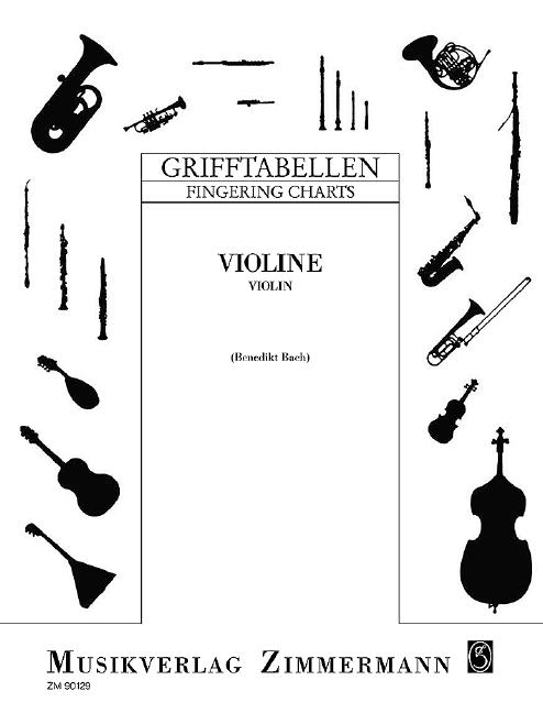 Grifftabelle für Violine