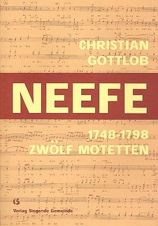 12 Motetten: für gem Chor a cappella, Partitur