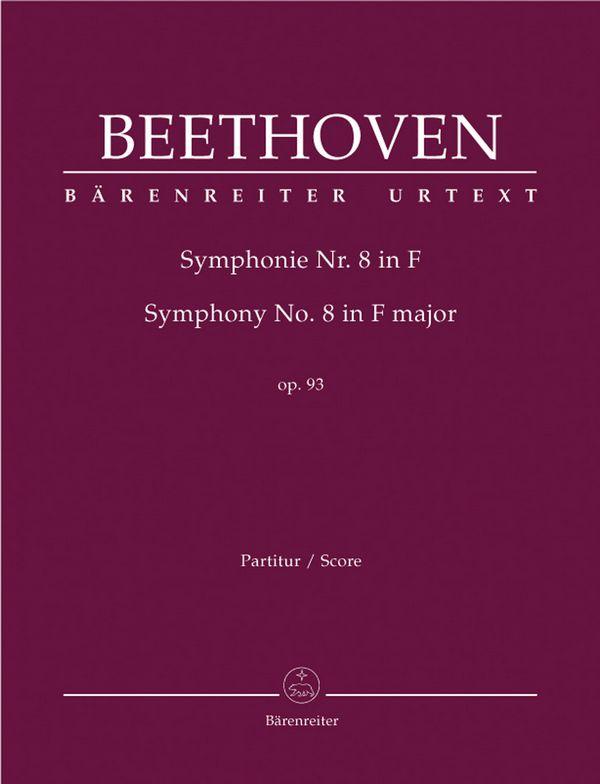 Sinfonie F-Dur Nr.8 opus.93: für Orchester