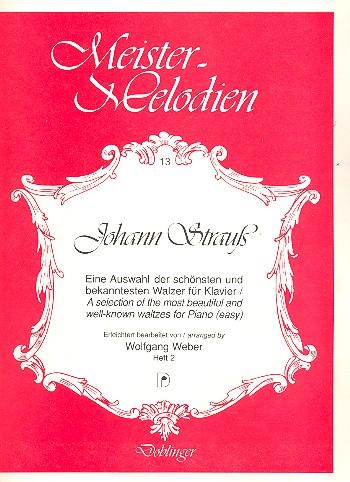Meister-Melodien Band 13: Johann Strauss Walzerauswahl für Klavier