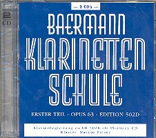 Klarinettenschule Erster Teil op.63: 2 CD\