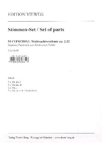 Manfredini, Francesco Onofrio - Weihnachtssinfonie op.2,12 :