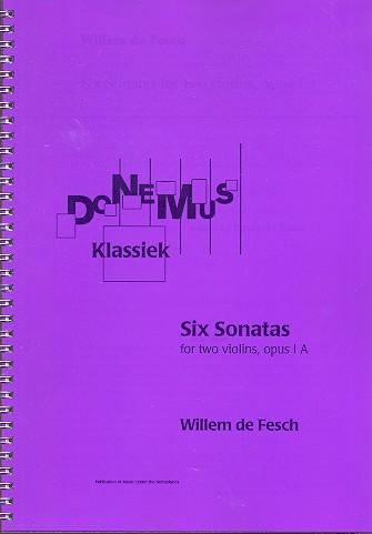 6 Sonatas opus.1a: for 2 violins score
