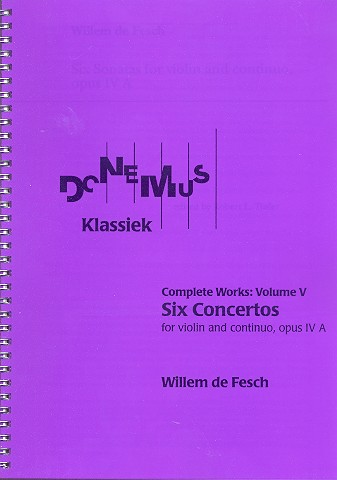 6 Concertos opus.4a: for violin and Bc score
