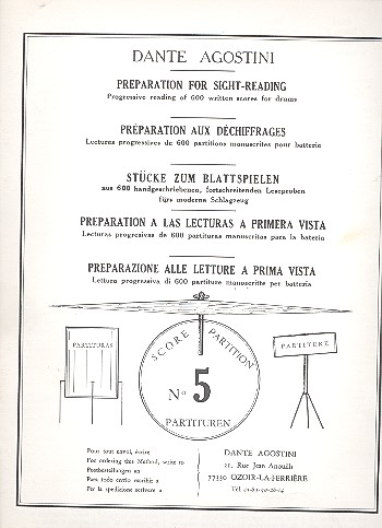 Preparation for Sight-Reading 5: Progressive reading of 600 written