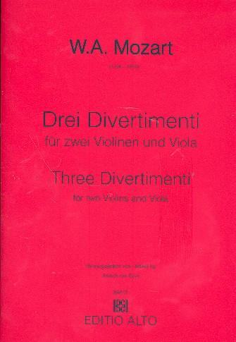 3 Divertimenti: für 2 Violinen und Viola Stimmen