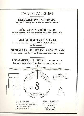 Preparation for Sight-Reading 8: Progressive reading of 600 written