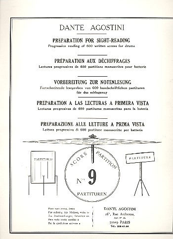 Preparation for Sight-Reading 9: progressive reading of 600 written