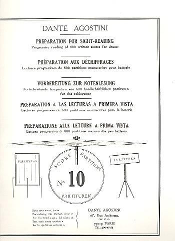 Preparation for Sight-Reading 10: progressive reading of 600 written