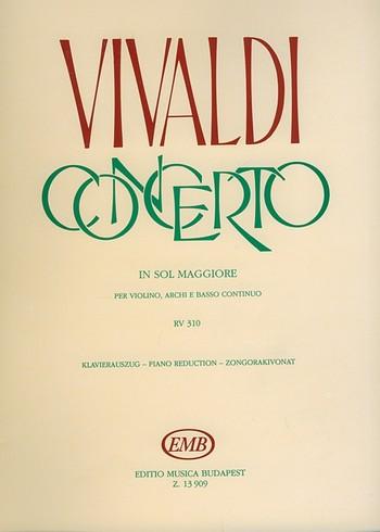Konzert G-Dur RV310 für Violine, Streicher und Bc: für Violine und