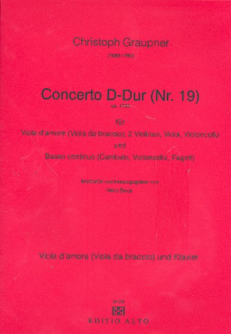 Concerto D-Dur Nr.19 für Viola d\