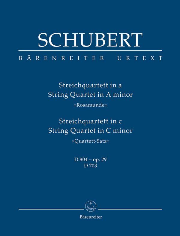 Schubert, Franz - Streichquartett a-Moll und c-Moll