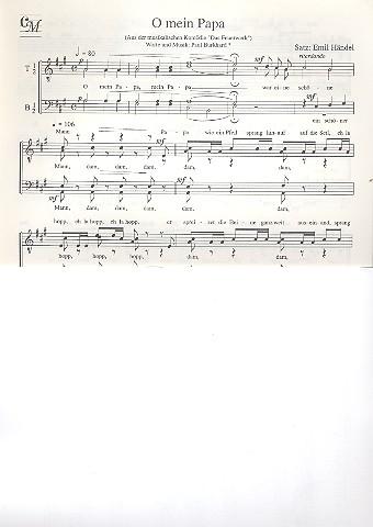 O mein Papa: für Männerchor a cappella, Partitur