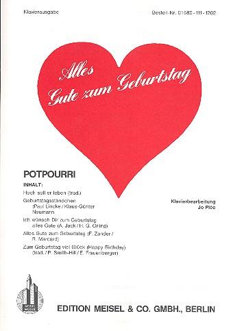 Alles Gute zum Geburtstag: Potpourri für Klavier
