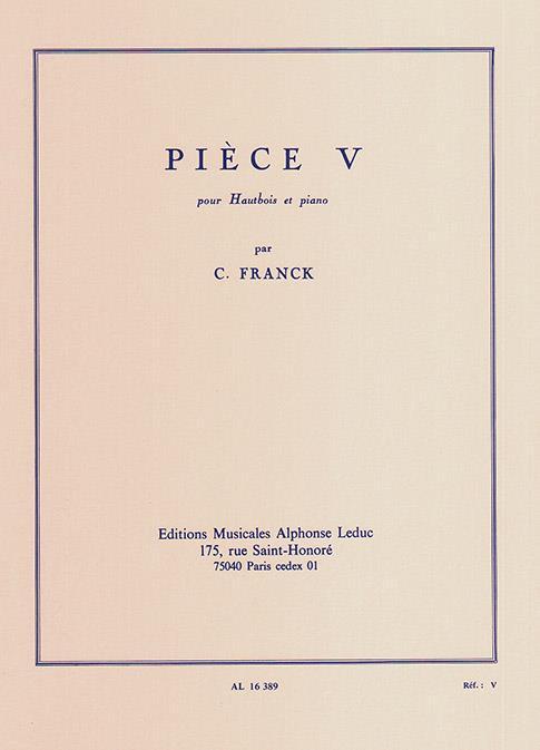 Franck, César - Pièce 5 : pour hautbois et piano