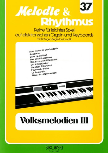 Volksmelodien Band 3: für E-Orgel / Keyboard