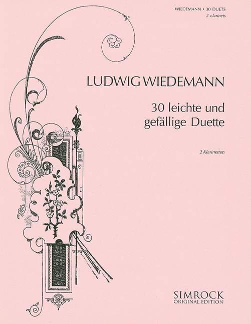 Wiedemann, Ludwig - 30 leichte gefällige Duette :