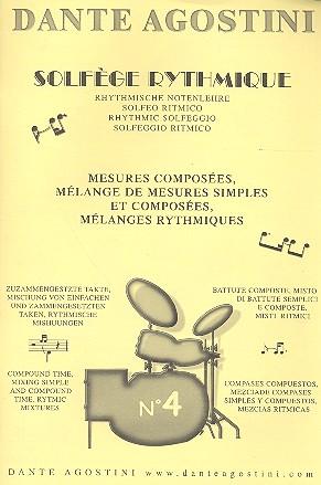 Solfège rhythmique vol.4: mésures composées, mélange de