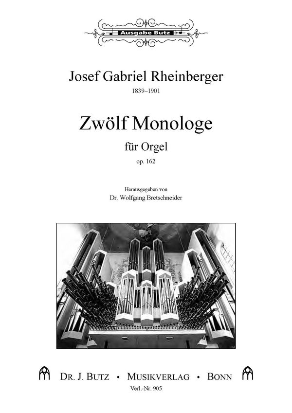 12 Monologe opus.162: für Orgel