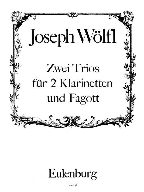 2 Trios Es-Dur und B-Dur: für 2 Klarinetten und Fagott (Violoncello)