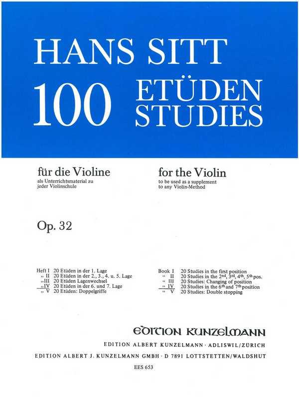 100 Etüden opus.32 Band 4: für Violine